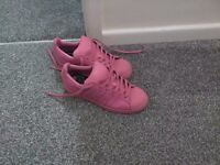 Adidas superstars pharrell limited edition pink size 5 worn once