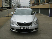 pco car 62 reg 2012 skoda octavia 1.6 tdi diesel, silver, 100k, s/h, mot n tax hpi clear 100%
