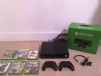 BOXED XBOX One 500GB with *TWO* Original Controller & 6 Games (Call of Duty, FIFA 17, Rocket League)
