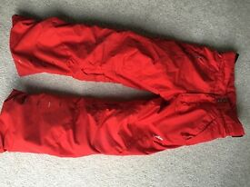 Child red ski/snow trousers - Wed'ze