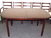 Dining Table & Six Chairs (Extending)