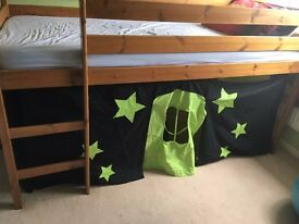 Kids High Bed and Tent (pine)