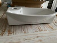 Brand New Hudson Reed 1TH Compact Wall Hung Basin (Left Hand)