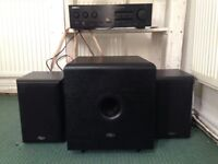 Monitors, subwoofer and amp- amazing sound, quick sell