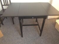 IKEA Ingatorp table and 2 chairs