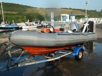 AVON Sea Rider 400. Inflatable RIB. boat. trailer.