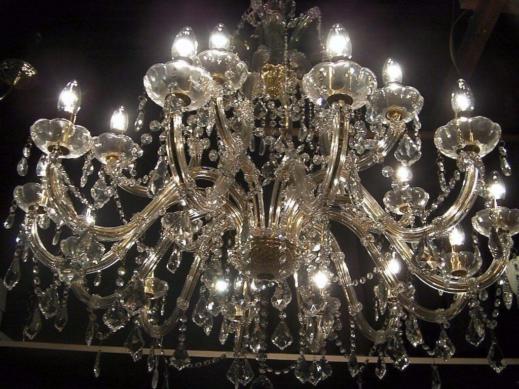 ABSOLUTELY MASSIVE*~ CHANDELIER SMOTHERED IN CRYSTAL   in Hove ...