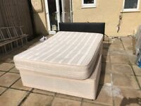 king size double bed with new condition with matress and new condition coffee table