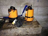 Tsunami water pumps fully submersible 110 volt site ready