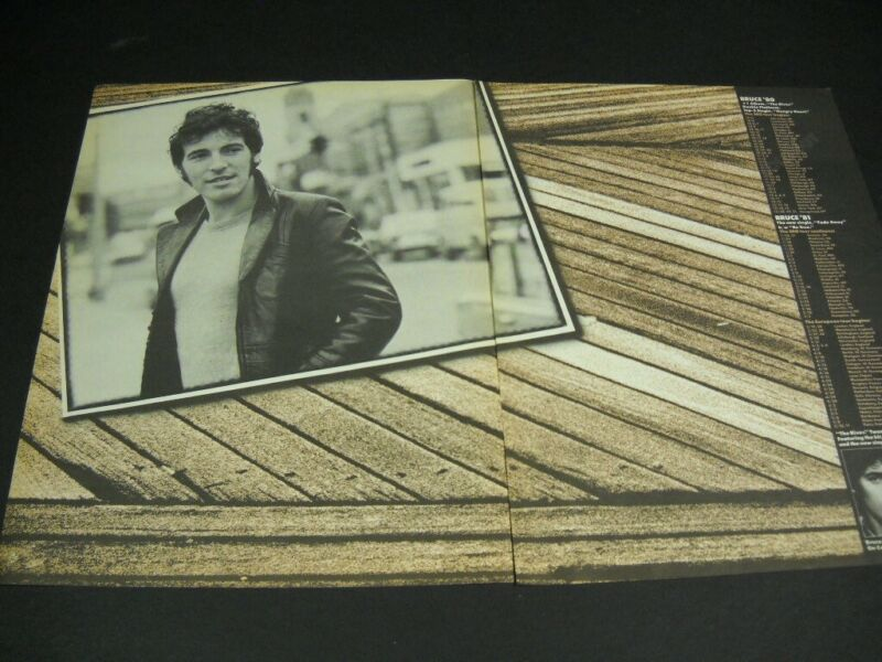 BRUCE SPRINGSTEEN 2-piece Rare 1980/1981 Tour Dates schedule PROMO POSTER AD