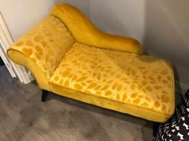 Yellow Chaise Longue Sofa