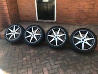 18 inch alloy wheels 225/45/R18 with tyres previously on a Mini Countryman SD