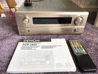DENON AVR-2802 AV HOME CINEMA RECEIVER DOLBY DIGITAL DTS ES 6.1 CHAMPAGNE COLOUR