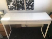 White dresser with double draws