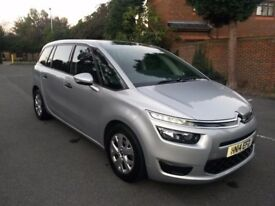 2014 Citroen GRAND C4 PICASSO DIESEL 2 KEYS 1.6 EHDI AIR SEMI AUTO 7SEATS TAXI LICENCE