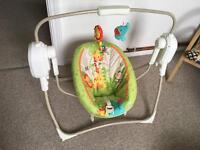 Fisher Price Rainforest Space Saver Cradle & Swing Chair