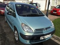Citreon xsara Picasso sx 2.0 hdi turbo diesel 2002 facelift model 5 door people carrier mot may 27