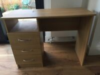 Compact desk with 3 drawers