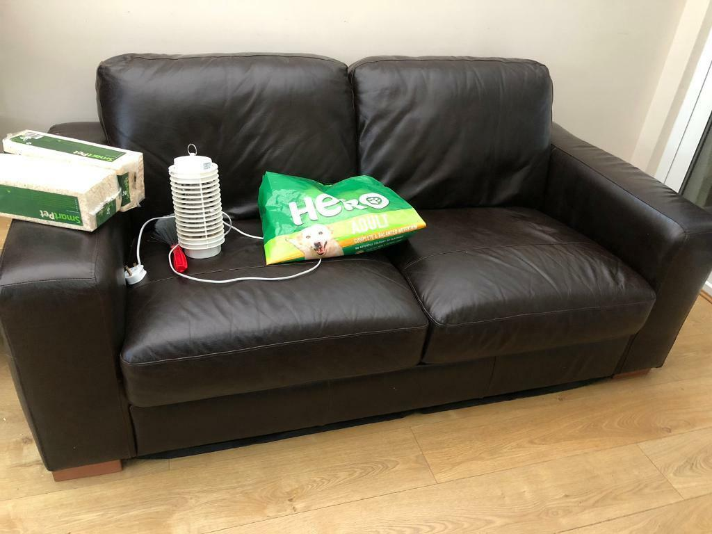 2 Seater Real Leather Sofa 200 Ono