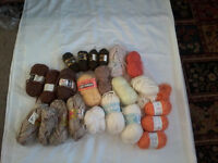 6 bags of wool for sale.