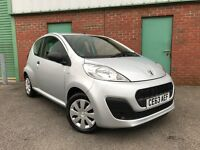 2013 (63) Peugeot 107 1.0 12v ( 68bhp ) Access 52,000 MILES 3 DOOR FREE ROAD TAX 1 OWN FSH C1 AYGO