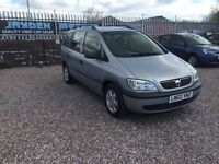 2002 VAUXHALL ZAFIRA 1.8 16V CLUB 7 SEATER MPV,ONLY 92000 MILES WITH 28th FEB 2017 MOT CERTIFICATE.