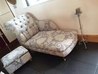 Beautiful new Chaise Lounge with storage footstool