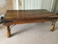 NEXT SOLID WOODEN COFFEE TABLE