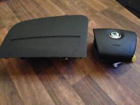 Skoda Fabia 5J Airbag Kit Front 2007-2012 Genuine OEM