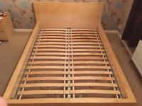 Double bed frame with 2 x matching bed side drawers