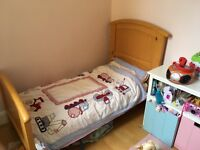 Cosatto Hogarth 3 in 1 cot bed in light country pine with changing table