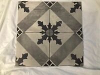 Marca Corona Grey Porcelain Floor/Wall Pattern Tiles - 200mm x 200 mm each tile