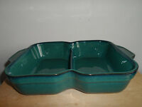 DENBY GREENWICH PATTERN DIVIDED OVEN/VEGETABLE DISH 1st Quality