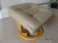 Real Leather Foot Stool (Morris Furniture)