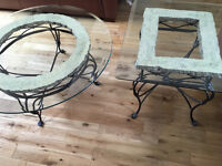 Pair of glass topped coffee tables - must go by 30 August!