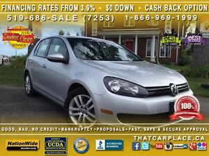 2010 Volkswagen Golf Trendline-$49/Wk-AUX/CD/Mp3-Steel Whls-LowK