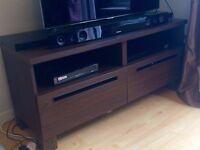 Dark Brown Walnut Ikea TV Cabinet Besta Adal Excellent condition