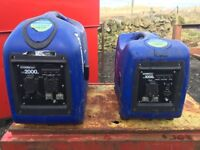 2 Hyundai generators for spares or repair