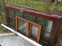 Selection of window frames with glass pvc & Wood