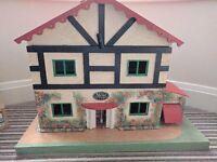 "Handmade dolls house - 34"" x 17"" x 26"""