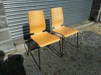 Pair of kitchen bistro chairs