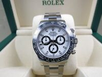 MENS ROLEX DAYTONA BASELWORLD NEW WITH BOX PAPERS BAG