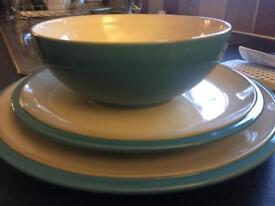 Denby Azure - 2 sets of 4 place settings - john lewis rrp £180