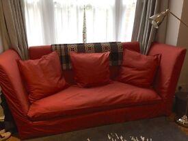 Unique Red 3-Seater Designer Sofa