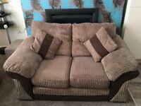 2 Seater Brown Sofa originally bought from DFS Bradford Area Smoke Free home
