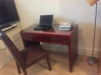 Painted Desk, Small Desk, Hall Furniture, Beautiful Desk with Glass top