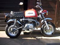 SKYTEAM 125cc BONGO MONKEY BIKE. 6 miles only & loads of extra safety features fitted.