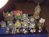 Miniature novelty clocks