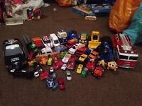Toy cars and other vehicles