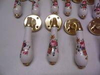 8 pairs Ceramic Door Handles